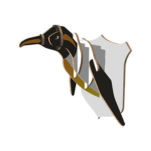 Pinguïn uit honingraat